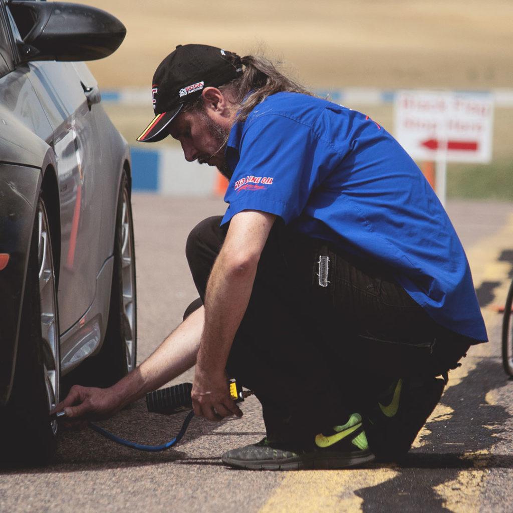 driver development track days pit support tire pressure check