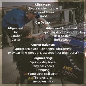 set up versus alignment
